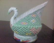 Cisne em origami