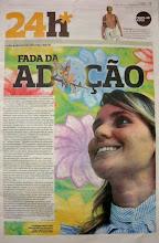 """""""Fada da Adoção"""". Cintia Liana no Jornal Correio da Bahia"""