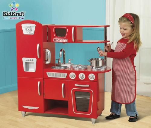 Kidkraft Lucy S Red Kitchen Is A Bright And Playful Place Where Imagination Welcome Favorite For Kids This Features
