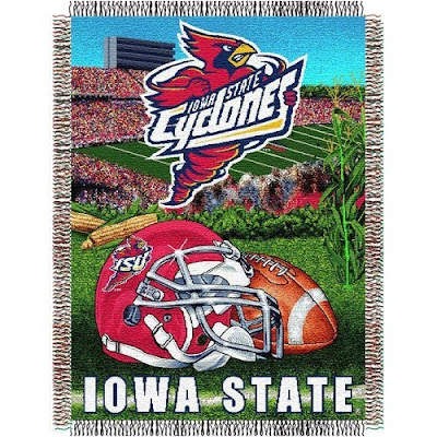 Iowa State Cyclones football blanket.