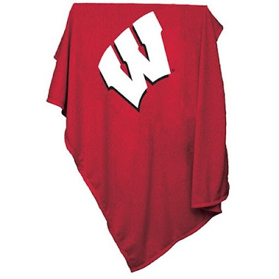 University of Wisconsin Badgers sweatshirt blanket.