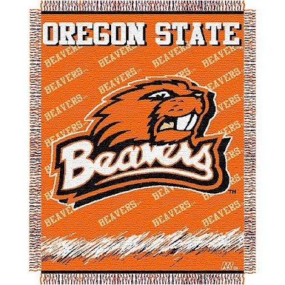 Oregon State Beavers Orange blanket.