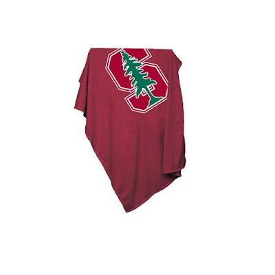 Stanford University red sweatshirt blanket.