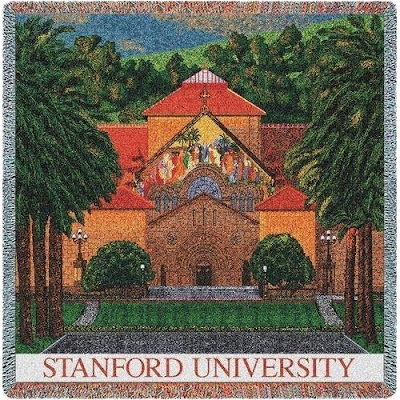 Stanford University Memorial Church tapestry blanket.