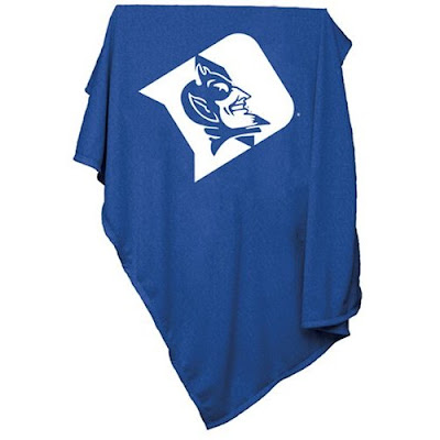 Duke Blue Devils sweatshirt blanket that is blue.