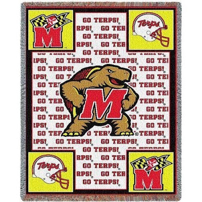Go Terps blanket for the University of Maryland.