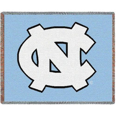 UNC Tar Heels Carolina Blue throw blanket.