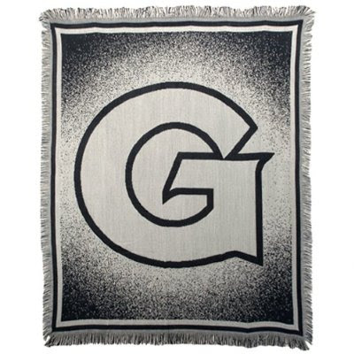 Georgetown Hoyas gray throw blanket.