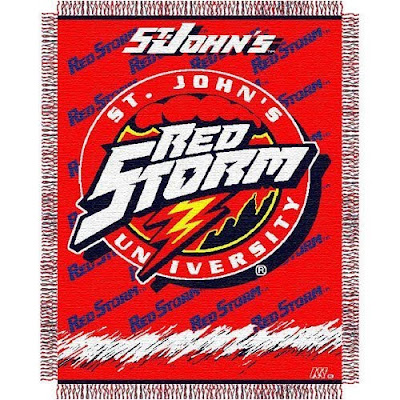 St. John's University Red Storm blanket.
