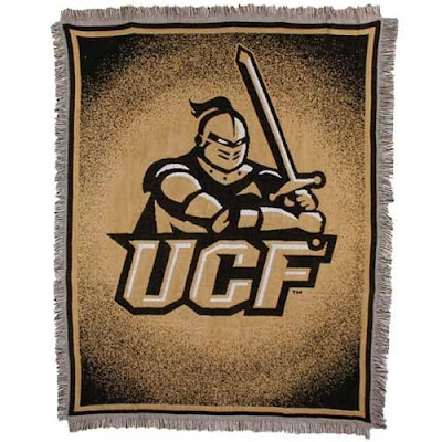 Gold University of Central Florida Knights blanket.