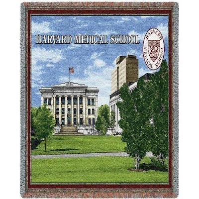 Harvard Medical School blanket.