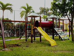 parques de dos torres en madera mas barras
