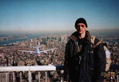 a second before NineEleven; plane hits the World Trade Center