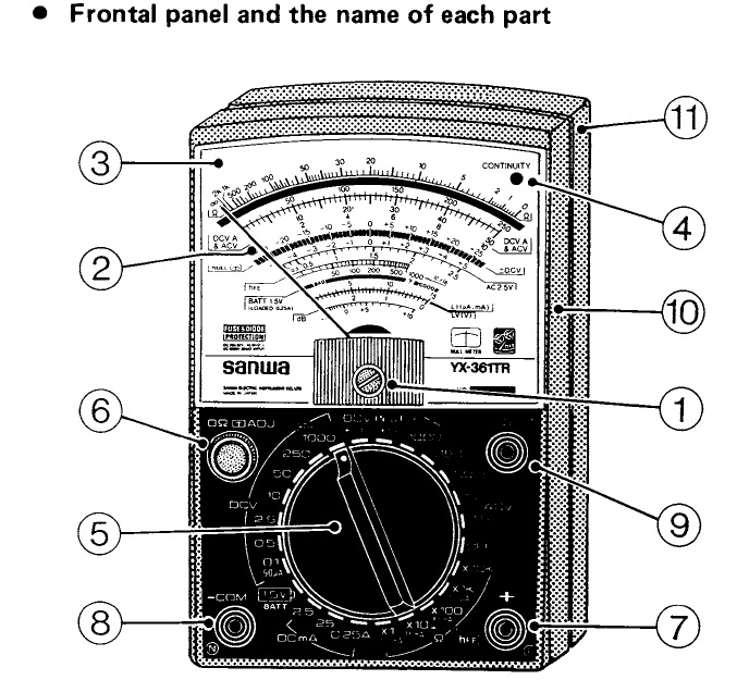 Analog Meter Schematic : How to use and read a multimeter free cellphone repair