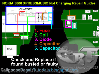 Nokia 5800 XpressMusic Not Charging Repair picture Guide