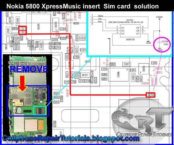 Repair Guide On Nokia 5800 Xpressmusic Insert Sim Card Problem
