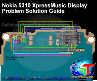 nokia 5310 LCD display ways