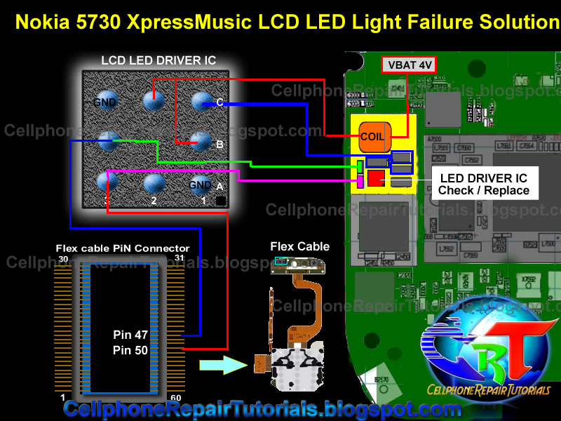 Nokia 5730 Xpressmusic LCD LED Backlight Failure Solution