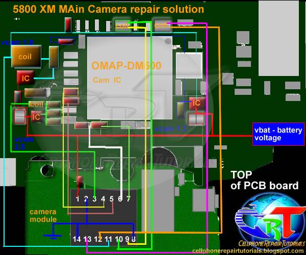 Nokia 5800 xpressmusic camera repair solution