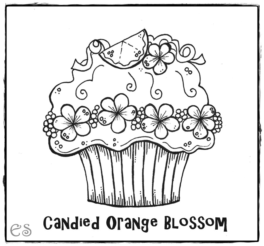 Cute Birthday Cupcake Coloring Pages | Coloring Pages For Kids