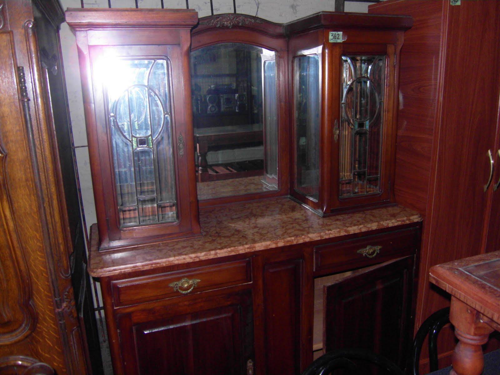 Armario Metalico Barato ~ DE PASO PASEO aparador antiguo con marmol y vidrios bicelados