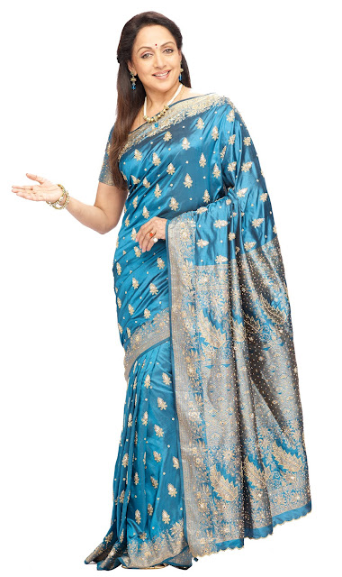 Actress Hema Malini Hot In Saree
