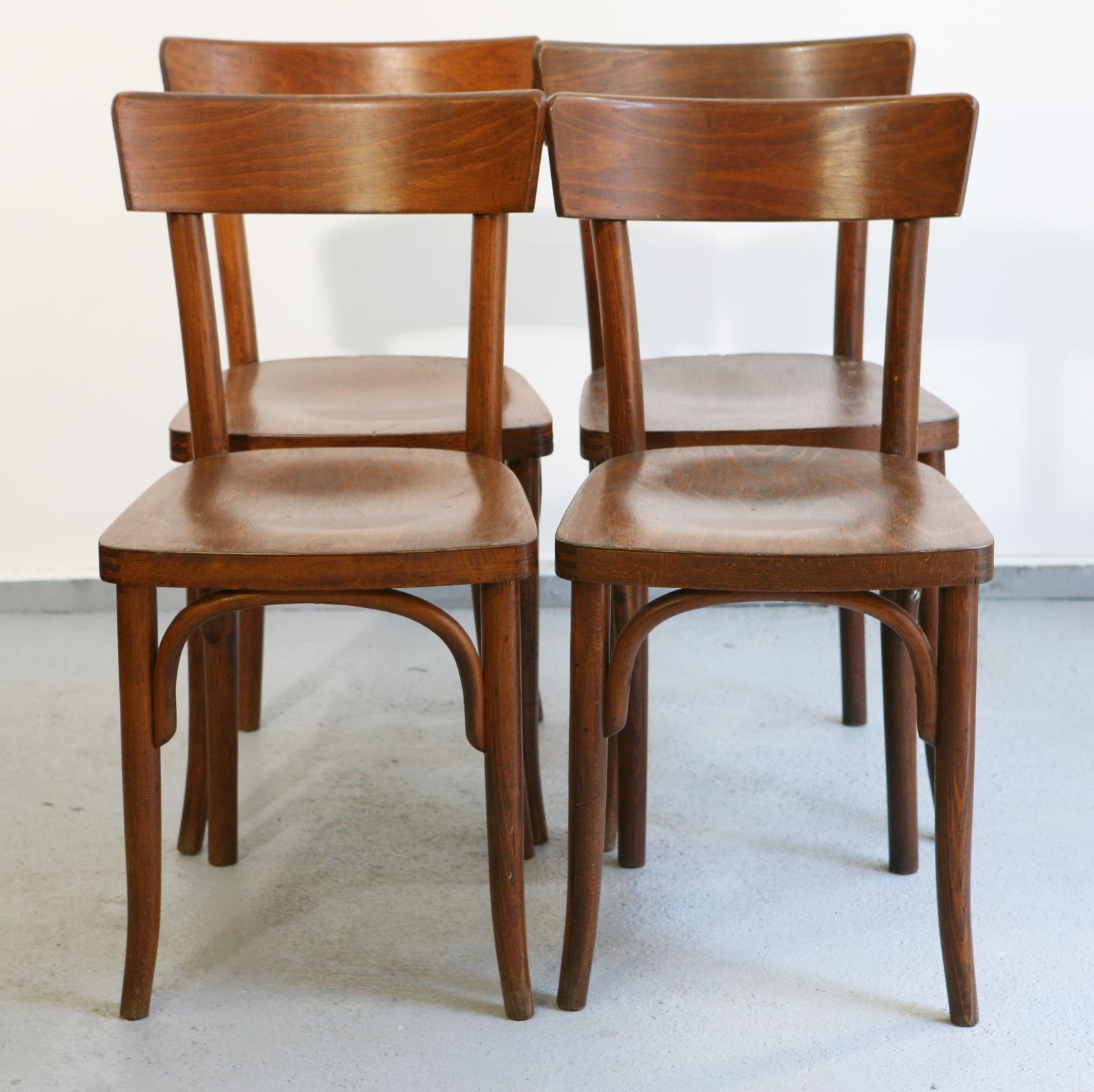 baos lot de 4 chaises bistrot. Black Bedroom Furniture Sets. Home Design Ideas