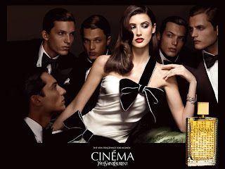 Cinema Yves Saint Laurent YSL Perfume da Rosa Negra Michelle Alves top model