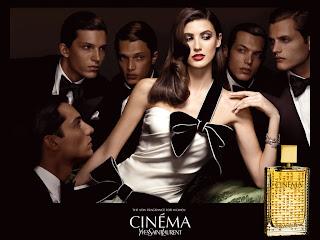 Cinema Yves Saint Laurent YSL Perfume da Rosa Negra Michelle Alves top model