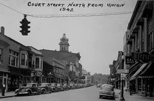 Court Street in 1942 — From the City of Athens Web site