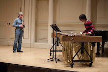 Richard Stoltzman and Mika Yoshida rehearse at Carnegie's Weill Recital Hall