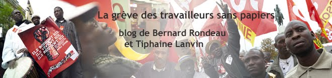 Travailleurs sans papiers en grve, blog de Bernard Rondeau photographe