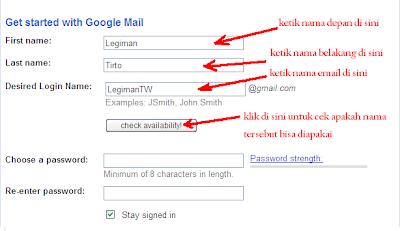Cara buat email google