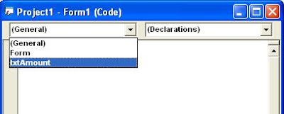 VB Code Editor Window