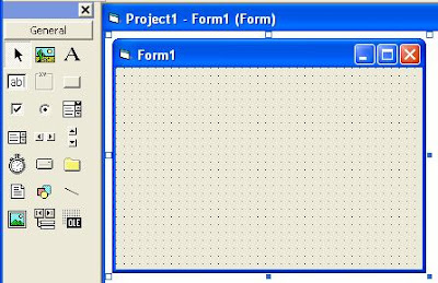 Visual Basic Toolbox and Form