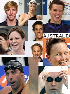 Beijing Olympics : Australian Swimming Squad