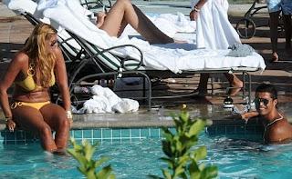 Cristiano Ronaldo in LA Hotel