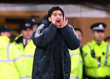 Diego Maradona against Scotland