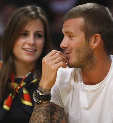 David Beckham and Francesca Leiweke