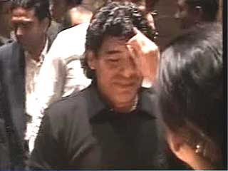 Diego Maradona in Kolkata, India
