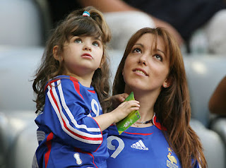 Willy Sagnol's Wife and Daughter