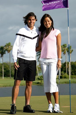 Rafael Nadal and Ana Ivanovic Playing Golf