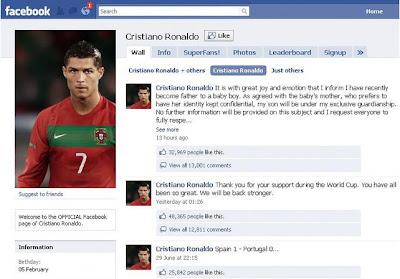 Ronaldo's FaceBook