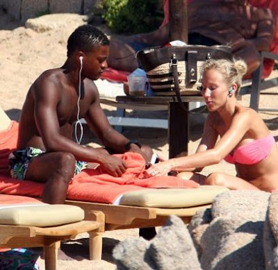 Patrice Evra Holidaying With His Wife Sandra