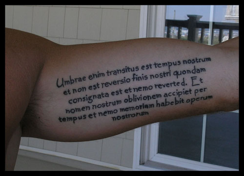 13 Meaningful Tattoos. Tuesday, April 13, 2010 at 3:18 AM Posted by SS