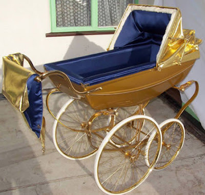 Extraordinary Gold-Plated Pram