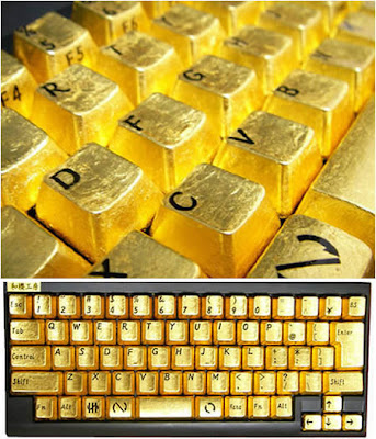 Extraordinary Golden Keyboard