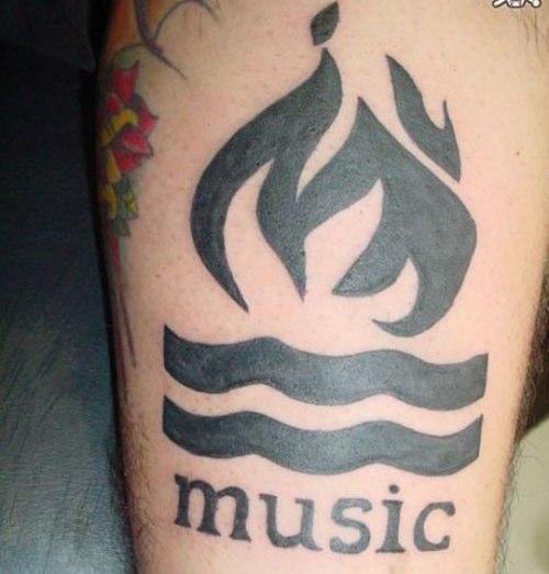 music tattoos men. music tattoos men.