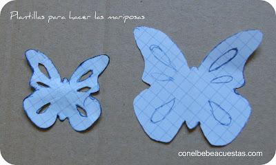 Con el bebe a cuestas: Como hacer mariposas de fieltro para perfumar armarios | Con el bebe a cuestas