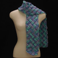 Shades of the Caribbean Scarf is now available in my shop